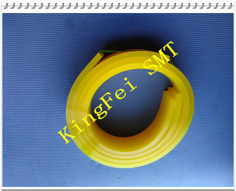 Yellow Rubber Squeegee 50 x 9mm Hardness 90° For For Printer Machine